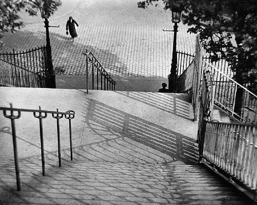 Stairs of Montmartre, Paris - 1925 by Andre Kertesz