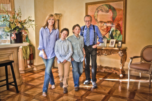 Larry King family portrait by Laszlo of Montreal